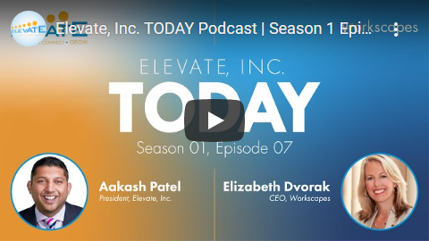 Cover of the Podcast Video Interview with Aakash Patel and Workscapes CEO Elizabeth Dvorak